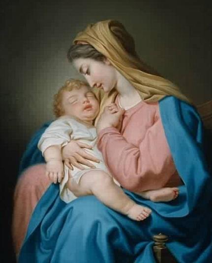 Domenico Corvi: María y el Niño.